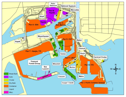 Port Of Long Beach Terminal Map The Best Beaches In World